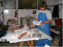 Dr.Frances Gessin at work in her studio